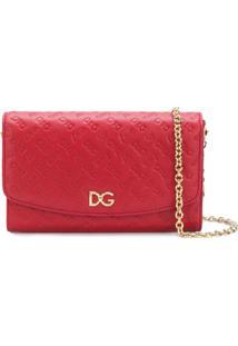 Dolce & Gabbana Carteira 'Love Is Dg' De Couro - Vermelho
