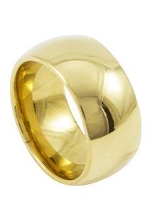 Aliança De Tungstênio New Tungsten 10Mm Tradicional Gold - Unissex