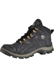 Bota Adventure Adaption Camuflada Preta