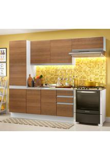 Cozinha Compacta Madesa 100% Mdf Acordes Com Armário E Balcão Branco