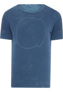 Camiseta Masculina Ckj Mc Logo Frente E Costas - Azul