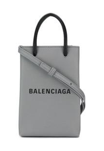 Balenciaga Bolsa Shopping Para Celular - Cinza