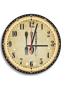 Relógio De Parede Decorativo Talheres Vintage Único