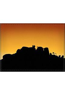 Jogo Americano Decorativo, Criativo E Descolado | Silhueta Pedra Grande - Tamanho 30 X 40 Cm