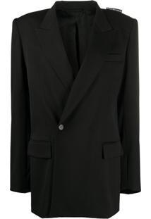 Balenciaga Oversized 80S Shoulder Blazer - Preto