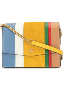 Tory Burch Bolsa Robinson Color Block - Amarelo