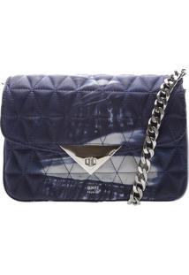 Bolsa Com Matelassê - Azul Claro & Brancaschutz
