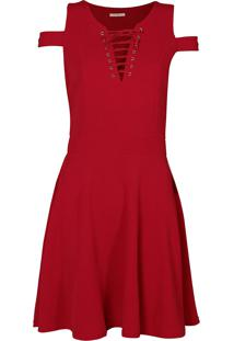Vestido Red Nose Vermelho feminino  777853cd49e