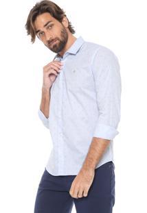 Camisa Forum Reta Âncora Azul