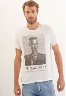 Camiseta John John Rx Singer Pixels Malha Off White Masculina Ts Rx Singer Pixels Off-Off White-G