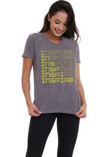 Camiseta Feminina Jay Jay Inspire Neon Amarelo Chumbo - Kanui