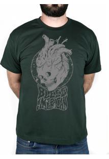Camiseta Bleed American Medusa Musgo