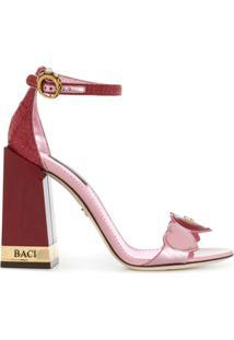 Dolce & Gabbana Sandália 'Heart' De Couro - 8L427 Pink