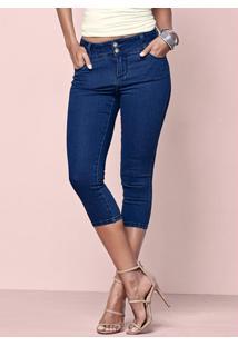 Calça Jeans Capri Azul Escuro