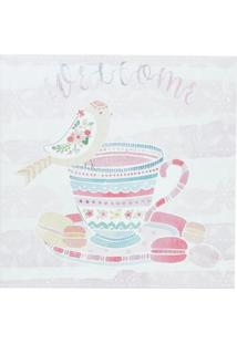 Quadro Decorativo Colorido Welcome 28X28Cm Urban Home