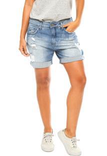 Bermuda Jeans Calvin Klein Jeans Estonada Azul