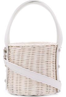 Wicker Wings Quan Bucket Bag - Branco