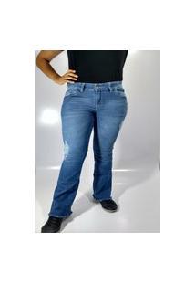 Calça Jeans Feminina Rarus Jeans Flare Azul