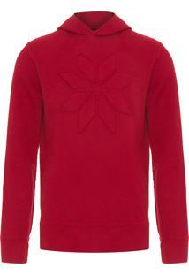 Blusa Masculina Moletom Cristal Texture - Vermelho