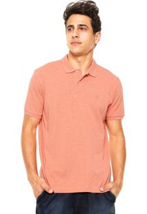 Camisa Polo Richards Logo Coral