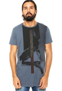 Camiseta Calvin Klein Jeans Estampa Azul