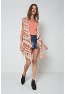 4d4bef51a8f1 Zattini Kimono Lily Fashion Tricot Franja Feminino - Feminino-Preto. Ir  para a loja; Kimono Oh,Boy! Franjas Sunset Feminino - Feminino-Laranja+Areia