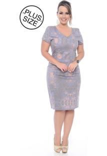 Vestido Plus Size Domenica Solazzo Lilas