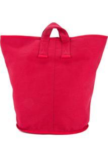 Cabas Bolsa Tote Grande 'Laundry' - Vermelho