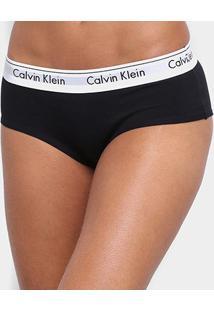 Calcinha Calvin Klein Short Modern Cotton - Feminino-Preto