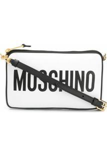 Moschino Bolsa Transversal Com Logo - Branco