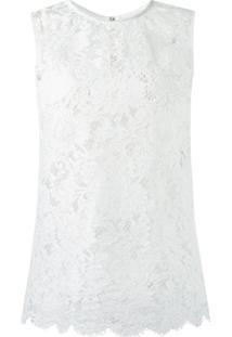 Dolce & Gabbana Blusa De Renda - Branco