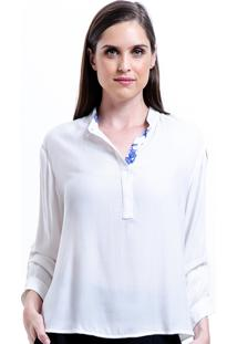 Camisa 101 Resort Wear Viscose Lisa Polo Branco Off