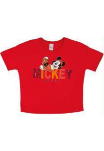 Blusa T-Shirt Estampada Vermelho