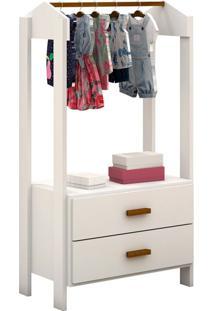 Guarda-Roupa Closet Modulado Infantil Franca 2 Gv Branco