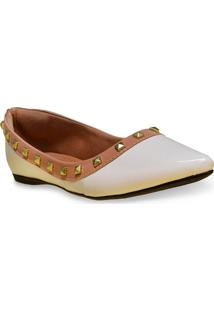 Sapatilha Fem Mary-S 1430159 Off White/Nude