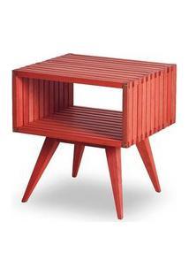 Mesa Apoio Dominoes Estrutura Vermelha 22Cm - 61478 Vermelho