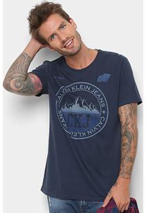 Camiseta Calvin Klein Estampa Montanha Masculina - Masculino