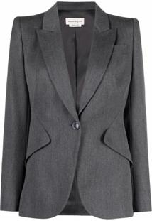 Alexander Mcqueen Tailored Wool Blazer - Cinza
