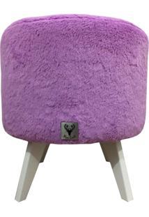 Puff Pã© Palito Redondo Alce Couch Pelinho Pelucia Lilã¡S 40Cm - Roxo - Dafiti