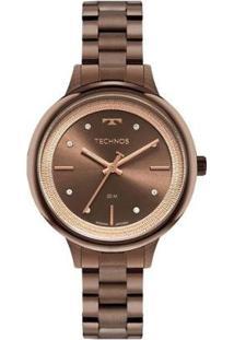 Relógio Technos Feminino Classic Marrom Analógico 2039Da1M - Feminino