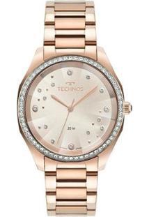 Relógio Technos Analógico Feminino - Feminino-Rose Gold