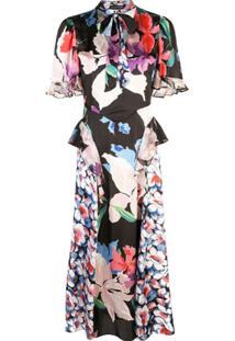 Jill Stuart Vestido Midi Com Mix De Estampas - Estampado