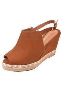 Sandália Uzze Sapatos Anabela Ankie Boot Caramelo