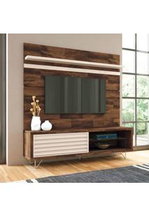 Rack Com Painel Para Tv 70 Polegadas Venezza Bege 180 Cm