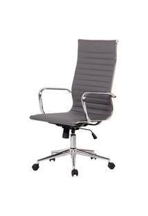 Cadeira Sevilha Eames Alta Pu Cinza Base Cromada 115Cm - 62970 Cinza