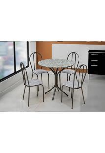 Conjunto De Mesa Para Sala De Jantar Artefamol Dalia Com 4 Cadeiras.