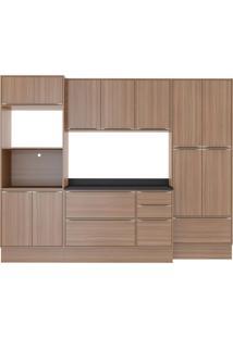 Cozinha Compacta Calábria 8 Peças 13 Portas Nogueira Multimóveis