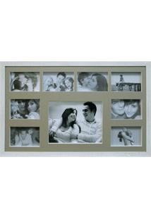 Painel De Fotos Bee Collection 43X68 Rustics 8 Fotos 10X15 E 1 Foto 20X25 Branco Kapos
