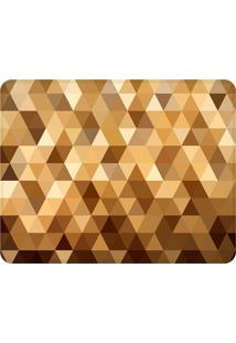 Tapete Multi Triângulos Dourado- Marrom & Amarelo Escurowevans
