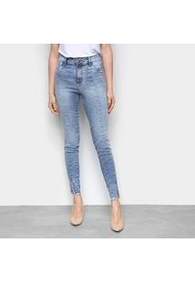 Calça Jeans Ecxo Estonada Feminina - Feminino